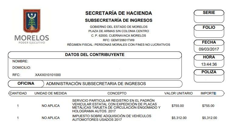 Cómo recuperar los pagos de refrendos de Morelos
